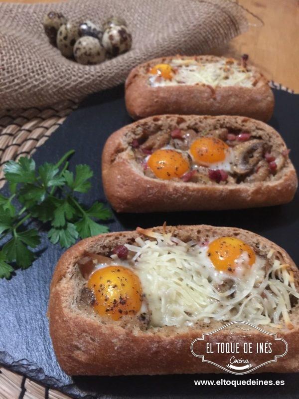 Metemos al horno durante unos 15 minutos para que los huevos se cocinen.