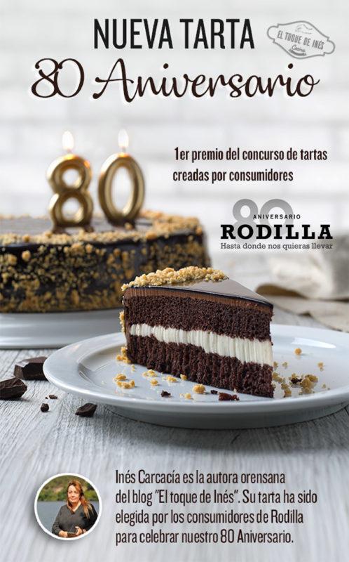 Rodilla 80 Aniversario - El Toque de Inés Primer premio del concurso de tartas creadas por consumidores