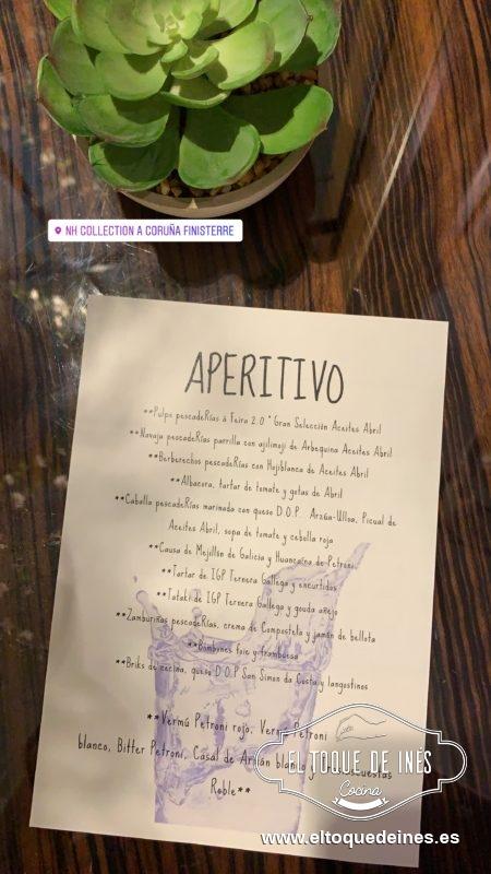 Os dejo la carta de aperitivos... mirad que maravillas!