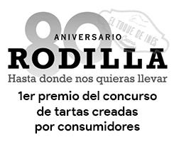 Primer precio del concurso de tartas creadas por consumidores en el 80 aniversario Rodilla