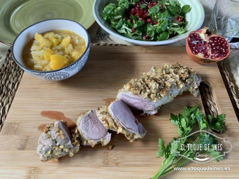 Y ya solo queda emplazar una vez asado, acompañar del chutney, una ensalada o patatas... al gusto.
